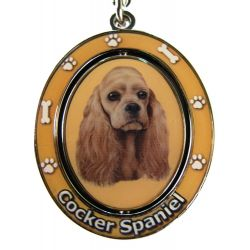 Cocker Spaniel, Buff Key Chain