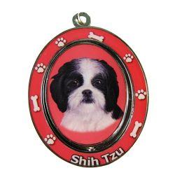Shih Tzu, black and white puppy cut Key Chain