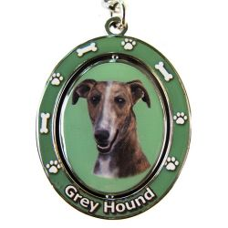 Greyhound, Brindle Key Chain