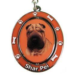 Sharpei Key Chain