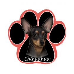 Chihuahua, black Mousepad