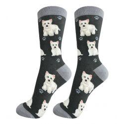 Westie Happy Tails Socks