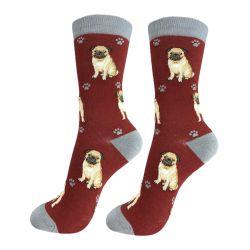 Pug Happy Tails Socks