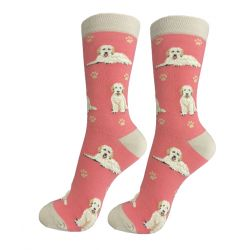 Goldendoodle, peach Happy Tails Socks