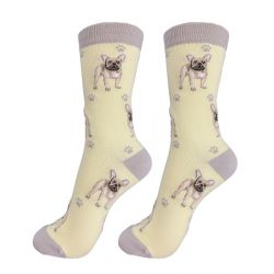 French Bulldog Tan Happy Tails Socks