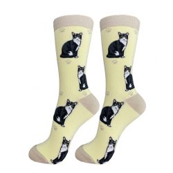 Cat, Black & White Happy Tails Socks