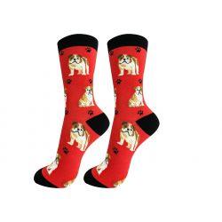 Bulldog Happy Tails Socks