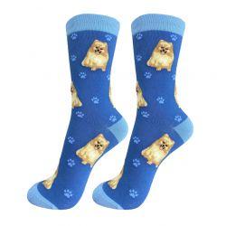 Pomeranian Happy Tails Socks