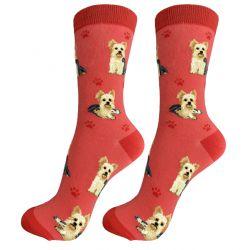 Yorkie Happy Tails Socks