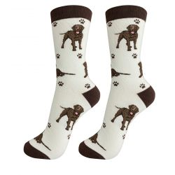 Labrador, Chocolate Happy Tails Socks