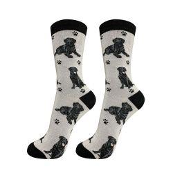 Labrador, Black Happy Tails Socks