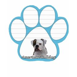 American Bulldog Magnetic NotePad