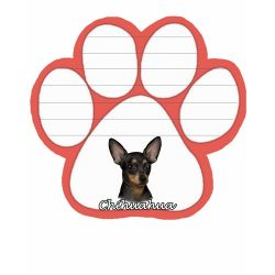 Chihuahua, black  Magnetic NotePad