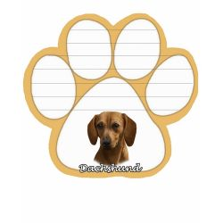 Dachshund, red  Magnetic NotePad