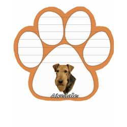 Airedale  Magnetic NotePad