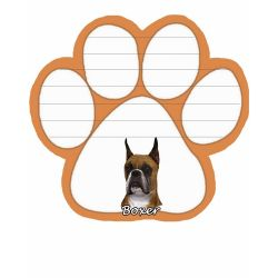 Boxer, Cropped Magnetic NotePad