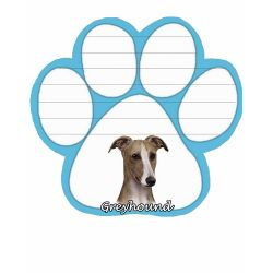 Greyhound, fawn & White Magnetic NotePad