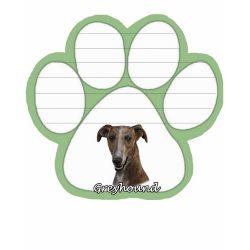Greyhound, brindle Magnetic NotePad