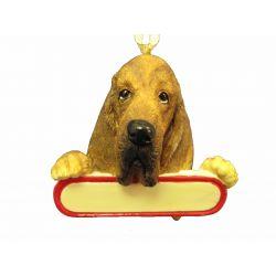 Bloodhound ornament Santa's Pals