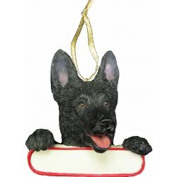 German Shepherd ornament Santa's Pals