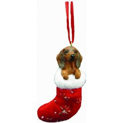 Dachshund, red Stocking Ornament