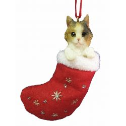 Calico Cat ornament Stocking Ornament