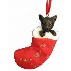 Black Cat Stocking Ornament