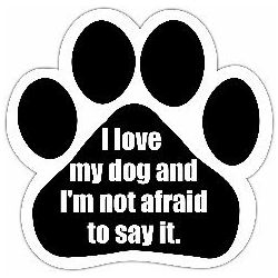 I love my dog and I'm not afraid to say it Car Magnet