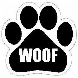 Woof Car Magnet