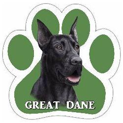 Great Dane, black Car Magnet