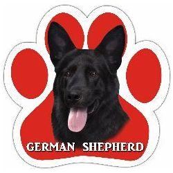 German Shepherd, black Car Magnet