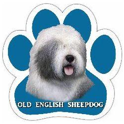 Old English Sheepdog Car Magnet